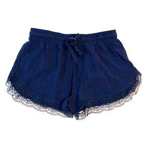 Forever 21 lightweight navy blue drawstring shorts